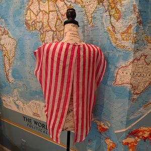 BLVD Pink/White Striped Open Back Top